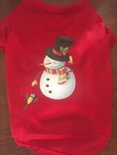 L CHRISTMAS SNOWMAN T-Shirt NEW! Average Dog FESTIVE!