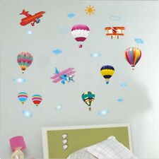 Colourful Hot Air Balloons & Planes Children Wall Decal Sticker Home Art Decor