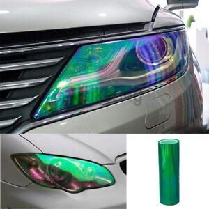 "12""x84"" Chameleon Green Color Car Headlight Taillight Fog Light Vinyl Tint Film"