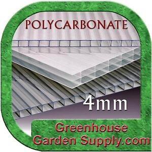 POLYCARBONATE CLEAR 4mm SHEETS  2ft x 4ft - 5 Pack for Greenhouse Cover