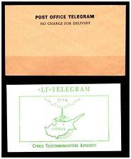 Post Office Telegrams x 2 Envelopes. Mint. #840