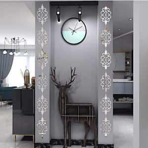 Acrylic Mirror Diagonal Lace Wall Stickers Porch Wardrobe Border Decoration Wall