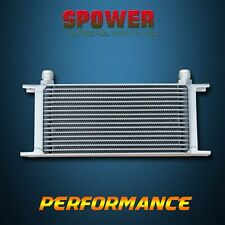 Universal 17 Row AN10 Engine Transmission 248mm Oil Cooler Mocal Style Silver