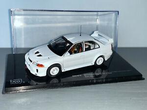 RALLY 1/43 IXO MITSUBISHI LANCER EVO V PLAIN WHITE CODE 3 + WHEELS WRC ERC 1/250