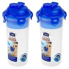 Lock & Lock 2 X One Touch Mixer Batter Shaker Water Bottle 15oz 470ml HPL931N