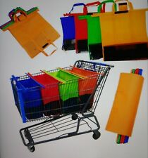 Reusable Grocery Cart Shopping Bags Trolley Organizer Storage Foldable Eco Totes