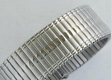 22mm STAINLESS STEEL FIXO FLEX STYLE EXPANDING, EXPANDER WATCH BRACELET - B177