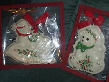 Lenox Holiday Teddy Bear & Rocking Horse Cookie Press Mold Christmas Ornament