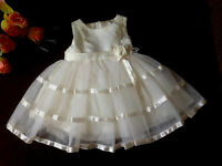 Baby White/Ivory Flower Girl Christening Baptism Party Wedding Bridesmaid Dress