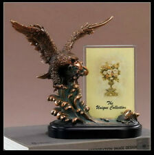 EAGLE & Picture Frame Bronze Sculpture Statue Desk Decorative Gift Resin
