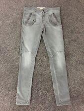 "6 2 Nero Jeans-slim Gamba stretta nuovi Blink 182 Muse ATTICUS-Donna 26/"" Grotta.."