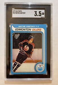 Wayne Gretzky Rookie Card 1979-80 Topps #18 Graded 3.5 SGC Not PSA