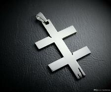 MIP- MARILYN MANSON - Double Cross symbol pendant w/30 inch steel ball chain