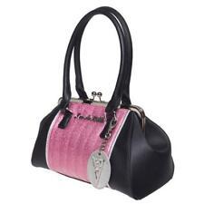 Lux De Ville V8 Kisslock Pink Sparkle + Matte Black Retro Pinup Hotrod NEW