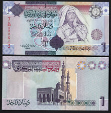 LIBYA 1 Dinar 2009 Fior di Stampa LIBIA Uncirculated banknotes Muammar Qaddafi