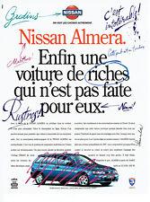 Publicité Advertising 107  1995  la Nissan Almera & Antar   airbag