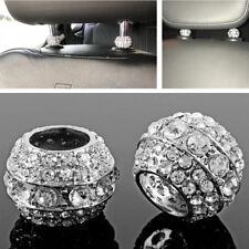 4Pcs Bling Crystal Strass Auto Autositz Kopfstütze Kragen Dekoration Ring Kreis