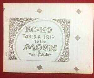KO-KO TAKES A TRIP TO THE MOON by Max Fleischer 21-page fanzine (undated) VG+