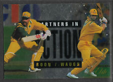 FUTERA 1996 CRICKET ELITE DAVID BOON & MARK WAUGH PARTNERS CARD No 50