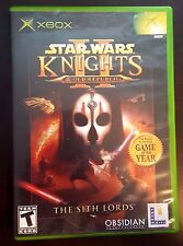 Star Wars Knights of the Old Republic II 2 KOTOR Microsoft Xbox Rare! Complete!