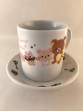 Rilakkuma Cup & Saucer Set - Official San-x Made in Japan - Japanese Anime Mug