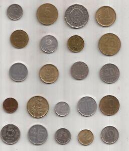22 MONEDAS ARGENTINAS DESDE EL AÑO 1955 A 2011 DISTINTOS VALORES
