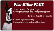 Flea Control with Red Flea Killer PLUS for Dogs 90-130 lbs. 12 Monthly Capsules