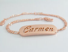 "18K Rose Gold Plated Name Bracelet ""Carmen"" Birthday Engagement Valentines Gift"