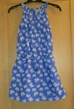 NEXT GIRLS AGE 6 YEARS PURPLE-BLUE BUTTERFLY DRESS