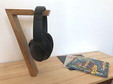 Handmade Brown Oak Freestanding Headphone Display Stand/Holder Music Bose, Sony