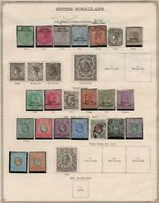 BRITISH SOMALILAND: 1903-1913 - Ex-Old Time Collection - 2 Sides of Page (35273)