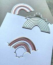 Stanzschablone/ Cutting dies Regenbogen & Wolke rainbow, 7x3,5 cm, 2 teilig
