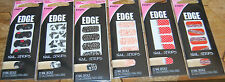 FINGRS EDGE NAIL STRIPS DECAL WRAPS LOT OF 6 PACKS, 6 DIFFERENT DESIGNS