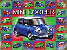 Mini Cooper Old Style, Retro British Car Icon, Large Metal/Steel Wall Sign