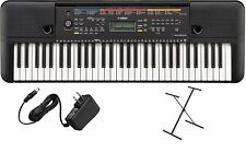 Yamaha PSRF51 61-Key Portable Keyboard Digital Piano Plus Stand & Power Adapter