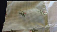 BED SKIRT Sz Cal King Rose Buds on Green / White Check Unused Westpoint Stevens