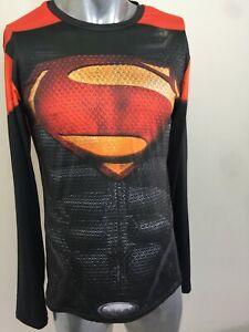 Superman 3XL Activewear long sleeve graphic print shirt eye catching! Asian sizi
