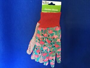 NWT Garden Collection Pink Flamingo Garden Gloves One Size Fits Most