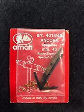 AMATI ANCORA TIPO SPAGNOLO 4015/40 MODELLISMO NAVALE AMATI ANCORA MODELLINO 40mm