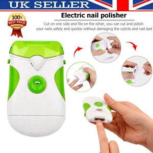 Electric Nail Grinder Trimmer Clipper Cutter Toenail Fingernail Pedicure File