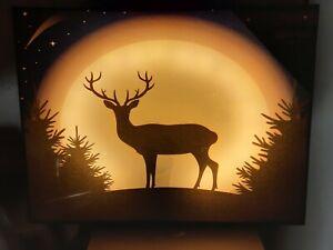 2 X PREMIER SOFT GLOW LED CANVAS CHRISTMAS PICTURES