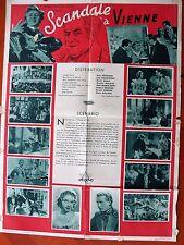 RARE - Affiche de cinéma Scandale à Vienne 1940
