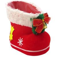 Calza scarpa stivale decorazione natale natalizia casa albero rigida 14x8x14cm
