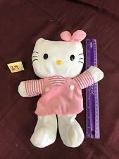 "1999 HELLO KITTY 10"" PINK OUTFIT PLUSH HAND PUPPET TOY"