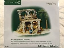 Dept 56 Little Town of Bethlehem® Spice & Copper Vendor'S Colonnade Set of 3 New