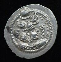 SASANIAN Kings King Peroz I, 459-484 AD. Silver dirhem 4.12 grams 27 mm