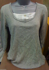 Lace Patternless 3/4 Sleeve Fitted Tops & Shirts for Women