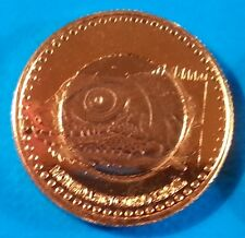 San Andres 2 pesos 2015 UNC Iguana St Catalina Colombia Bimetallic unusual coin