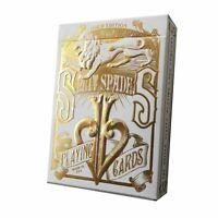 David Blaine Gold Split Spades Playing Cards Gold Foil Rare Metalluxe Edition