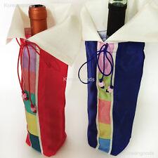 Korean Traditional Handmade Embroidered Sun Flower Wine Bottle Covers Weddings 2